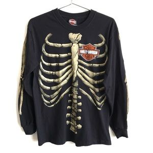 Harley Davidson Skeleton Clovis New Mexico Shirt
